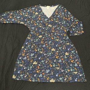 H&M Floral Navy Blue dress